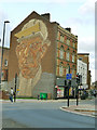 SK3587 : Steelworker wall, Castle Street, Sheffield by Stephen Craven