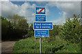 ST5011 : Signs at Hill Cross by Derek Harper