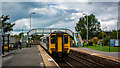 NY2548 : DMU 156483 leaving Wigton by Peter Moore