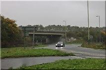SU1982 : Roundabout on Marlborough Road, Swindon by David Howard