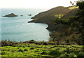 SX9150 : Coastline south of Pudcombe Cove by Derek Harper
