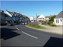 SM9537 : View along West Street in Fishguard by Richard Law