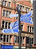SJ8498 : Manchester signage by Gerald England