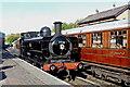 SO7192 : Steam locomotive at Bridgnorth in Shropshire by Roger  Kidd
