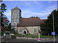 TQ6858 : St Peter & St Paul Church in Leybourne, Kent by John P Reeves