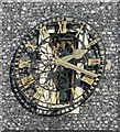 TQ2471 : St Mary's Church Clock in Wimbledon, Greater London by John P Reeves