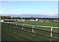 TF9228 : The finishing straight at Fakenham Racecourse in Norfolk by Richard Humphrey