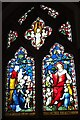 SP0382 : Stained glass window, Selly Oak church by Philip Halling