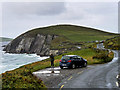 V3197 : Slea Head Drive, Passing Place and Viewpoint near Dumnore Head by David Dixon