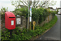 SX4563 : Postbox and noticeboard, Bere Ferrers by Derek Harper
