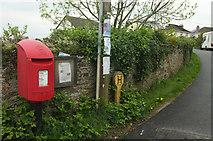 SX4563 : Postbox and noticeboard, Bere Ferrers by Derek Harper