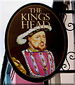 SS9668 : King's Head name sign, East Street, Llantwit Major by Jaggery