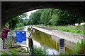 SJ2923 : Restoration work at Bridge 84 by John Winder