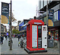 NS5965 : Red police box on Sauchiehall Street by Thomas Nugent