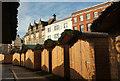 SX9292 : German market, Cathedral Green, Exeter by Derek Harper