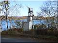 NS1986 : Communications beacon near Ardentinny by Thomas Nugent