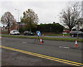 ST1580 : Coned-off lane on the A470, Whitchurch, Cardiff by Jaggery