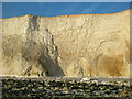 TV5496 : Freshly exposed chalk marking erosion on cliff face, Seven Sisters by Andrew Diack