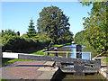 SJ9429 : Sandon Lock north-west of Salt in Staffordshire by Roger  Kidd