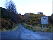 NS1690 : Narrow road in Glen Finart by Thomas Nugent
