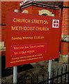 SO4593 : Information board outside Church Stretton Methodist Church by Jaggery