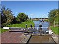 SJ9726 : Canal at Brinepit Lock near Weston, Staffordshire by Roger  Kidd