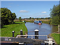 SJ9726 : Canal north of Weston Lock in Staffordshire by Roger  Kidd