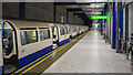 TQ0575 : Platform, Heathrow Terminal 5 Underground Station by Rossographer