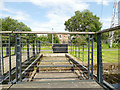 NS5866 : Sliding footbridge over the canal (detail) by Stephen Craven