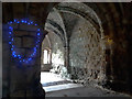 SE2636 : Lights within the Chapter House of Kirkstall Abbey by Stephen Craven