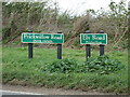 TL5782 : Roadsigns on the B1382 Prickwillow Road by Adrian Cable
