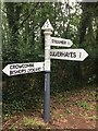 ST1137 : SCC Fingerpost on Stogumber Hill at the junction with Cookley Lane by Marika Reinholds