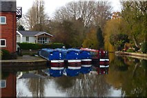 SP7287 : Narrowboats at Union Wharf, Market Harborough by Mat Fascione