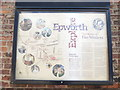 SE7803 : Information Board near The Old Rectory, Epworth by David Hillas