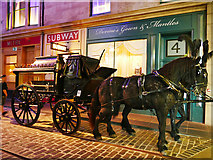 NS5565 : Horse-drawn hearse in Glasgow's Riverside Museum by Stephen Craven