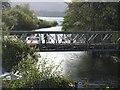 NY4724 : The pedestrian bridge at Pooley Bridge by David Purchase