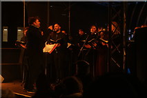 TQ1985 : View of the London Community Choir performing at the Wembley Winterfest launch event by Robert Lamb