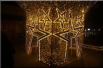 """TQ1985 : View of """"Starbox"""" illuminated in the Wembley Winterfest by Robert Lamb"""
