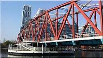 SJ8097 : Salford Quays - Detroit Bridge by Colin Park