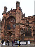 SJ4066 : The Knife Angel at Chester Cathedral - 2 by John S Turner
