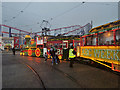 SD3033 : Illuminated Tram at Blackpool Pleasure Beach by David Dixon