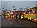 SD3033 : Illuminated Tram at Blackpool Pleasure Beach by David Dixon
