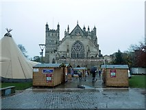 SX9292 : Exeter Cathedral and 2019 Exeter Christmas Market by David Smith