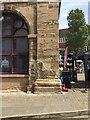 SP2864 : Masonry, southeast corner of the museum, Market Place, Warwick by Robin Stott