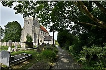 TQ1711 : Steyning, St. Andrew and St. Cuthman Church: South western aspect by Michael Garlick