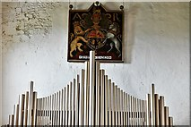 TQ1711 : Steyning, St. Andrew and St. Cuthman Church: Queen Anne Royal Coat of Arms (1703) by Michael Garlick