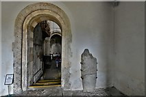 TQ1711 : Steyning, St. Andrew and St. Cuthman Church: The south doorway by Michael Garlick