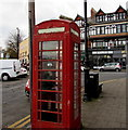 ST1871 : Grade II listed red phonebox, Station Approach, Penarth by Jaggery