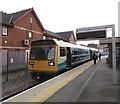 ST1871 : Ystrad Mynach train in Penarth station by Jaggery