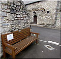 SS9668 : Happy to Chat bench outside Llantwit Major town hall by Jaggery